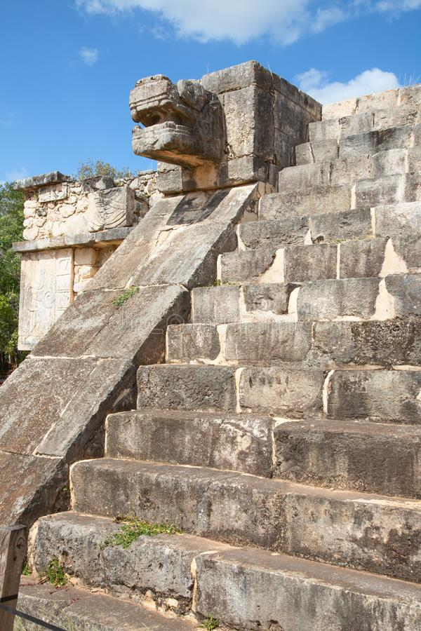 Ruins of the Chichen-Itza. Yucatan, Mexico royalty free stock photography