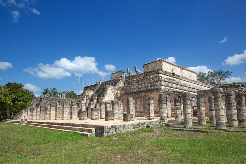 Ruins of the Chichen-Itza royalty free stock images