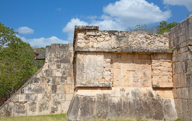 Ruins of the Chichen-Itza stock image