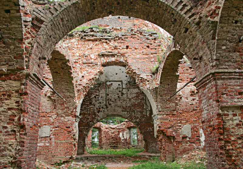 Ruins of a church. The ruins of a big church in Karelia, Russia royalty free stock image
