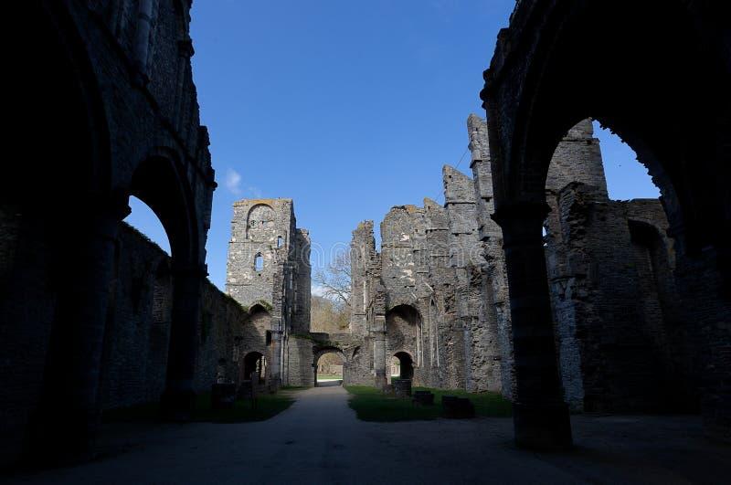 Ruins church Abbey Villers la Ville, Belgium stock image