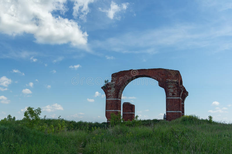 Ruins of the church. Central Russia. Ruins of the church of Boris and Gleb. Old Ryazan village, Ryazan region, Central Russia royalty free stock images