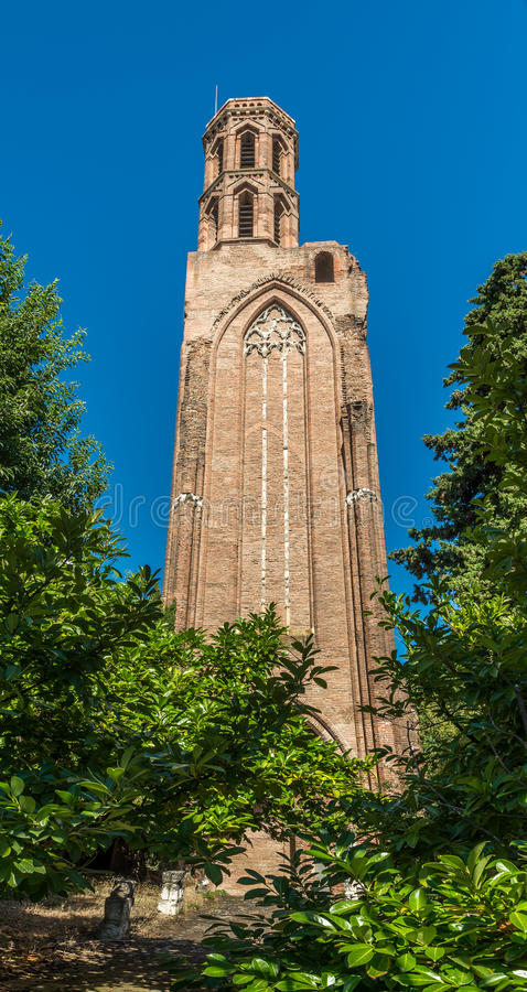 Ruins church of Cordeliers in Toulouse - France. Ruins church of Cordeliers in Toulouse royalty free stock photo