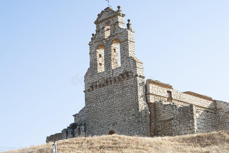 Ruins abandoned ancient church. Ruins of the Church of the Savior stock photo