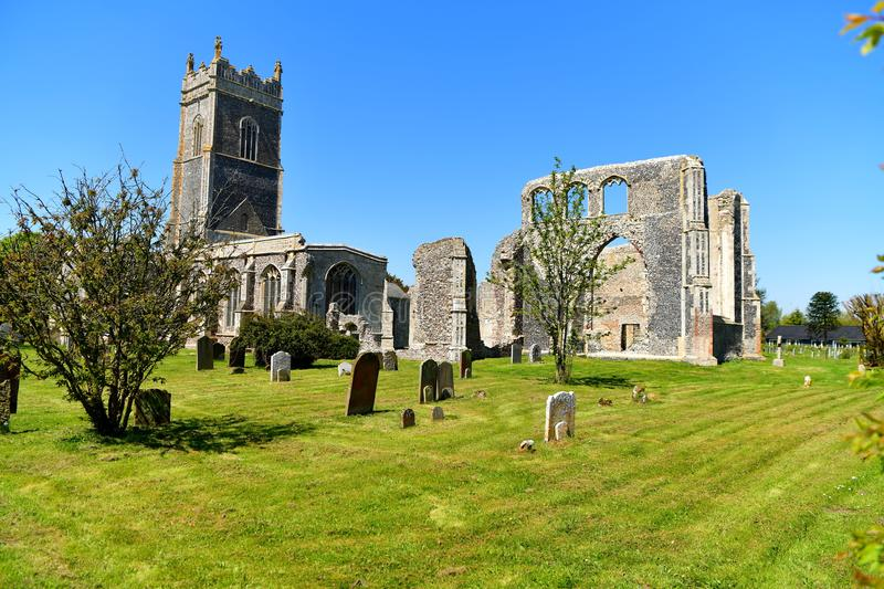 Ruins Church St Andrew, Walberswick UK, royalty free stock photography