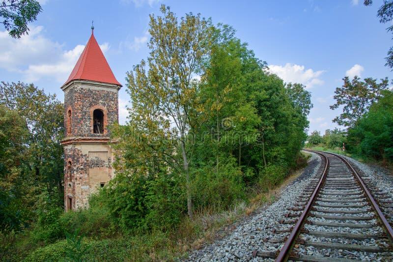 The ruins of the church of St. Michael. Zlovedice - Czech Republic stock photos