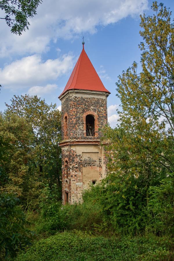 The ruins of the church of St. Michael. Zlovedice - Czech Republic royalty free stock photography