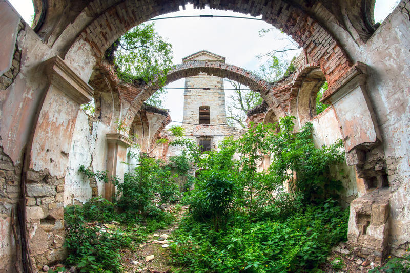 Ruins of the Church of St Wenceslas. Image of the ruins of the Church of St. Wenceslas, Czech republic stock photography