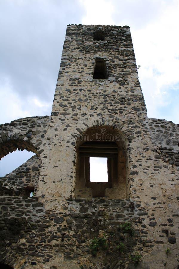 Ruins of a church. In Szentantalfa, Hungary royalty free stock photo