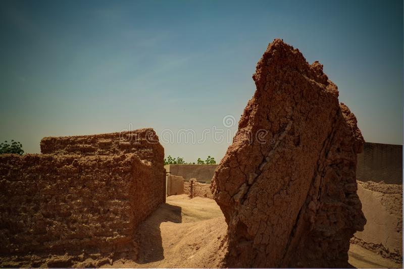 Ruins of city wall in Zinder, Niger. Ruins of ancient city wall in Zinder, Niger royalty free stock photography