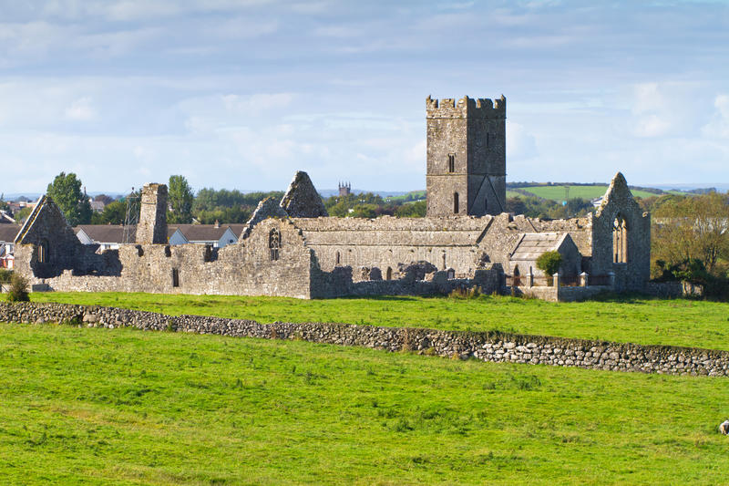 Ruins of Clare Abbey royalty free stock photos
