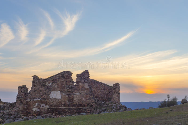 Ruins and clouds royalty free stock image