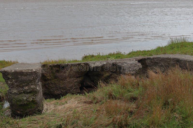 Ruins on the coast stock photo
