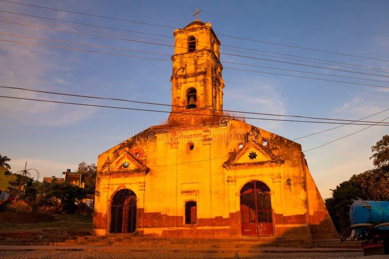 Ruins of the colonial catholic church of Santa Ana in Trinidad,. Cuba royalty free stock image
