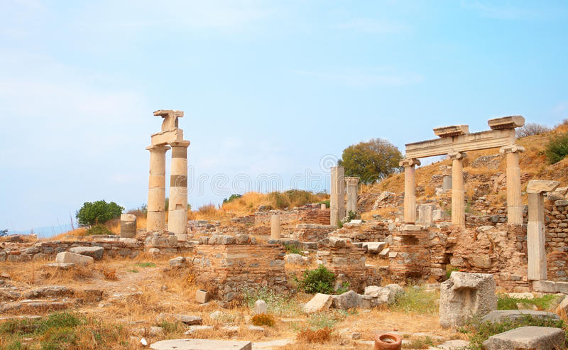 Download Ruins Of Columns In Ancient City Of Ephesus Stock Photo - Image: 16035508