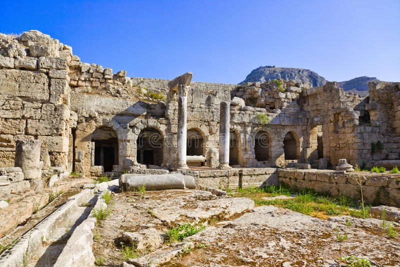 Download Ruins in Corinth, Greece stock image. Image of landscape - 27045099