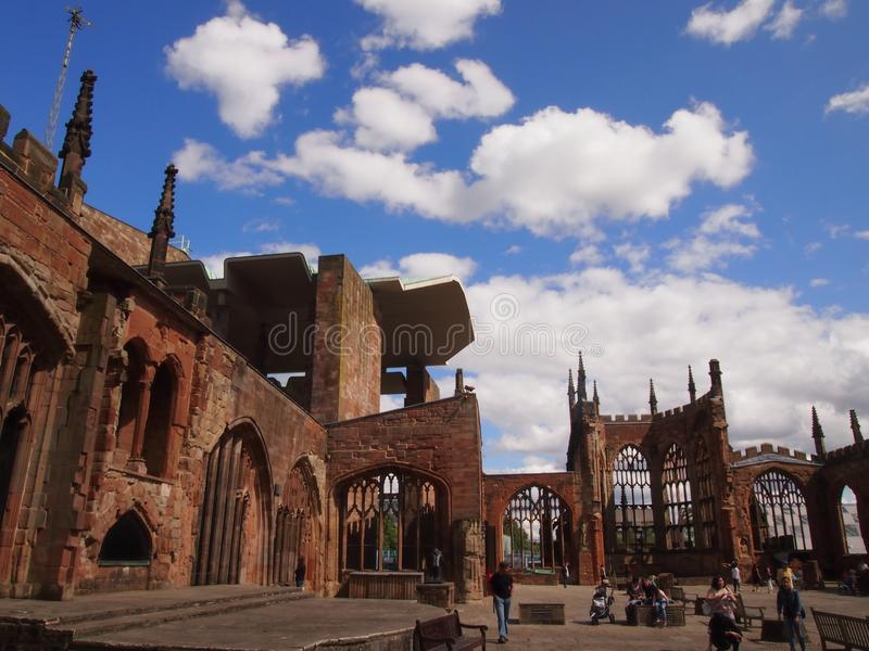 The Ruins of Coventry Cathedral, England royalty free stock images