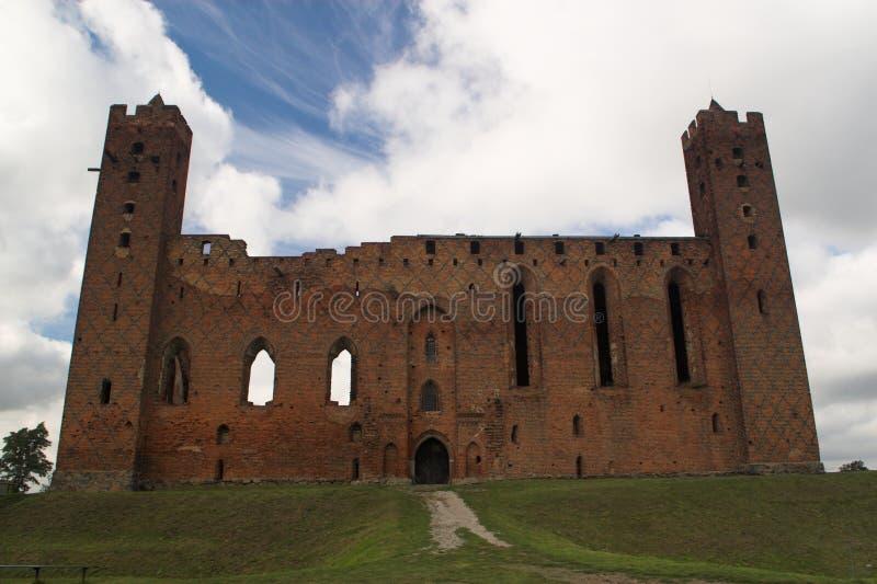 Ruins of crusader castle royalty free stock image