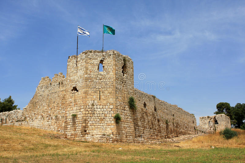 Ruins of crusaders castle royalty free stock photos
