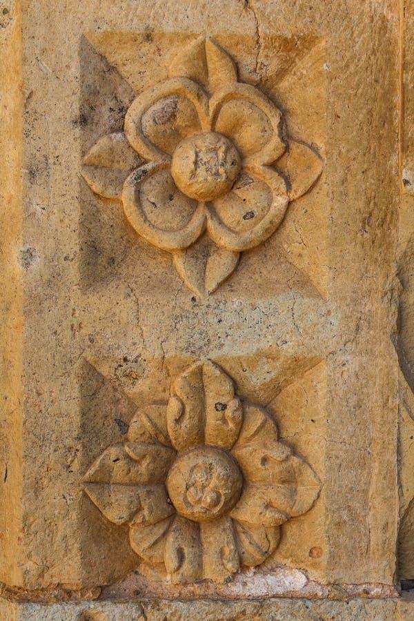 Ruins of the Cuilapan de Guerrero monastery, Oaxaca royalty free stock image