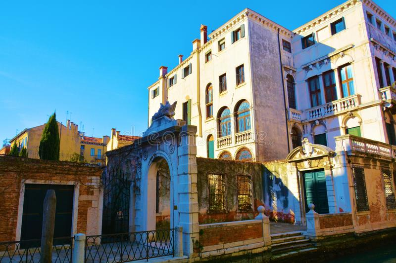 Ruins, details, in Venice, Italy royalty free stock photos