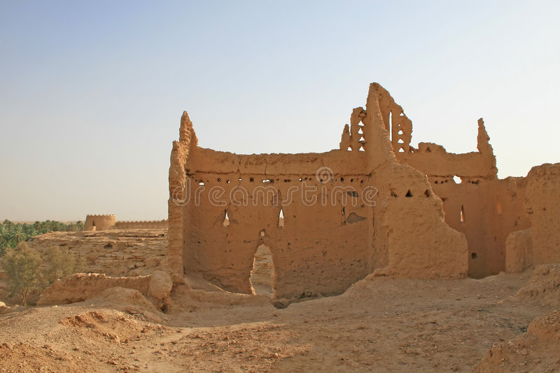 Ruins of Diriyah royalty free stock images