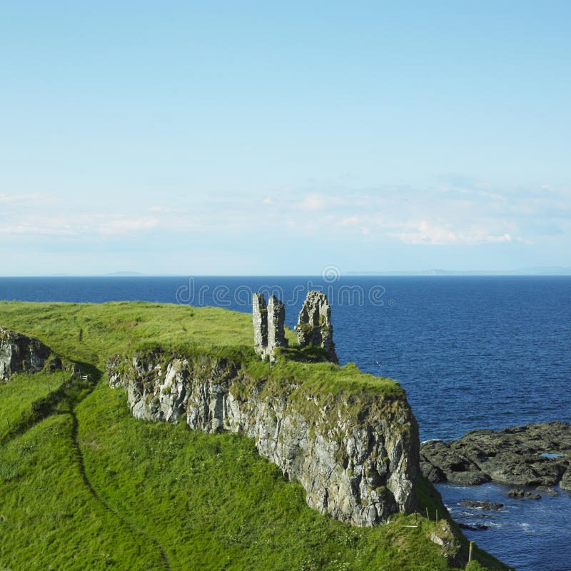 Ruins of Dunseverick Castle royalty free stock photography