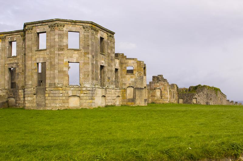 The ruins of the Earl Bishop`s flamboyant house in the grounds of the Downhill Demesne near Coleraine royalty free stock photography
