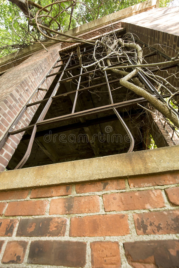 Ruins of electrical station, Hockanum River in Manchester, Connecticut. royalty free stock photography