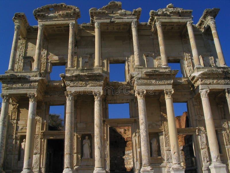 Ruins of Ephesus. The ruins of the city of Ephesus in Turkey royalty free stock image