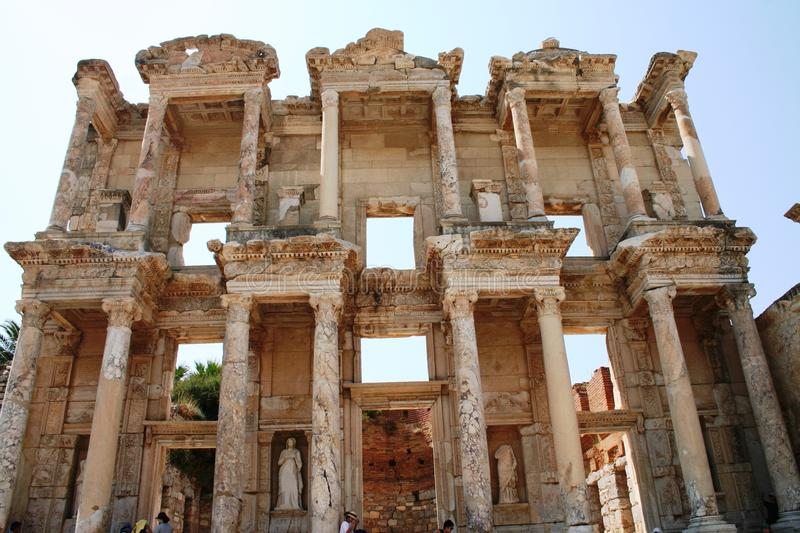 The ruins of Ephesus Turkey royalty free stock photography