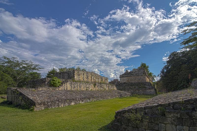 Mayan acropolis EkBalam in Mexico royalty free stock photo