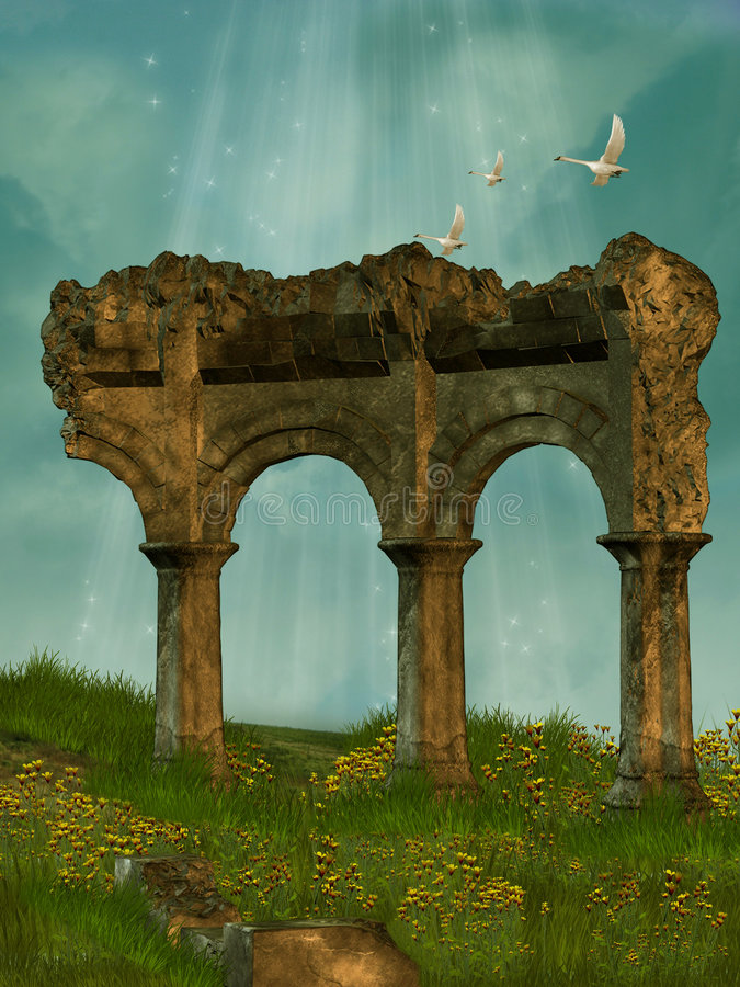 Download Ruins In The Field Stock Image - Image: 6797441