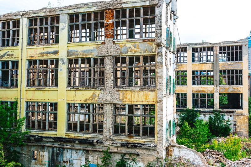 Ruins of the former industrial enterprise royalty free stock images