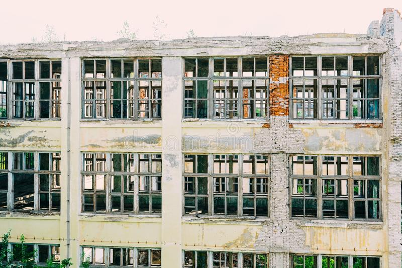 Ruins of the former industrial enterprise royalty free stock photography