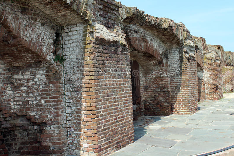 Ruins of Fort Sumter royalty free stock photos