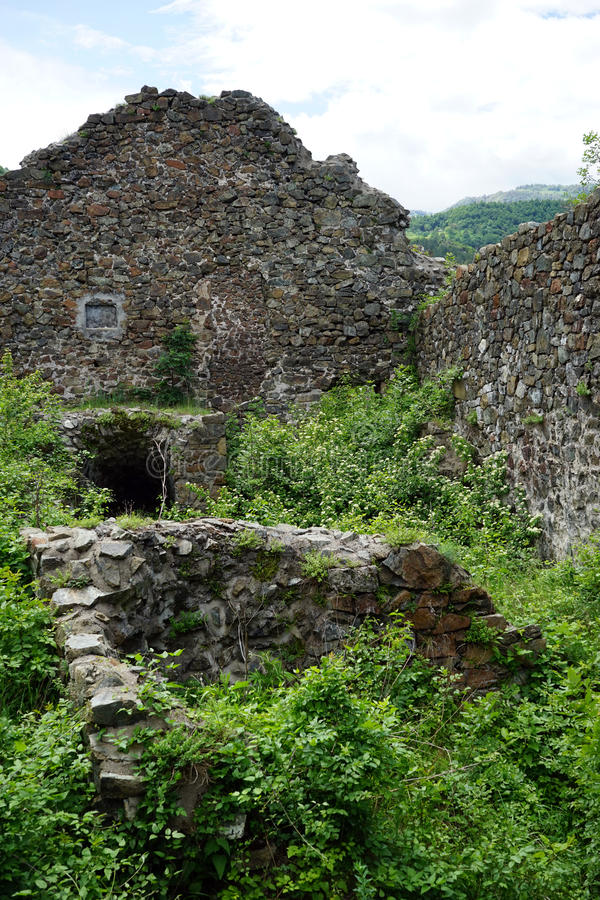 Ruins of fortress stock image