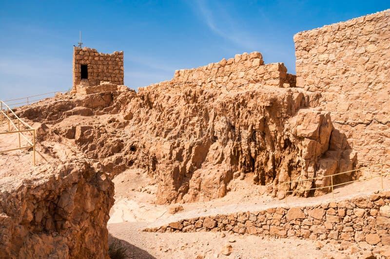 Ruins of fortress Masada, Israel. sunny day stock photos