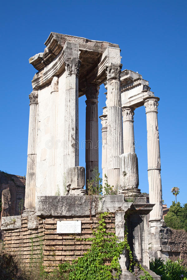 Ruins of the forum. In Rome, Italy stock image