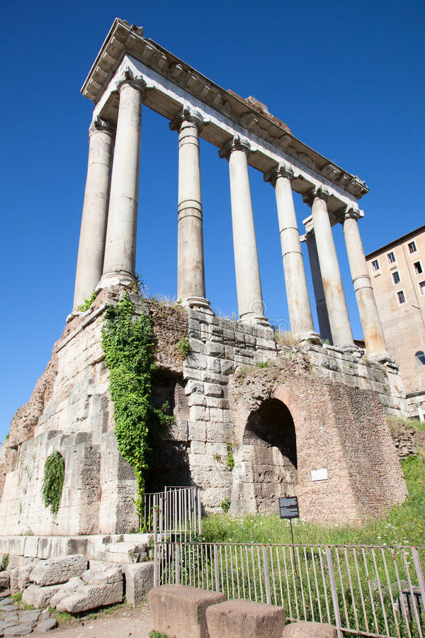 Ruins of the forum. In Rome, Italy royalty free stock image