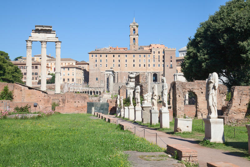 Ruins of the forum. In Rome, Italy stock photography
