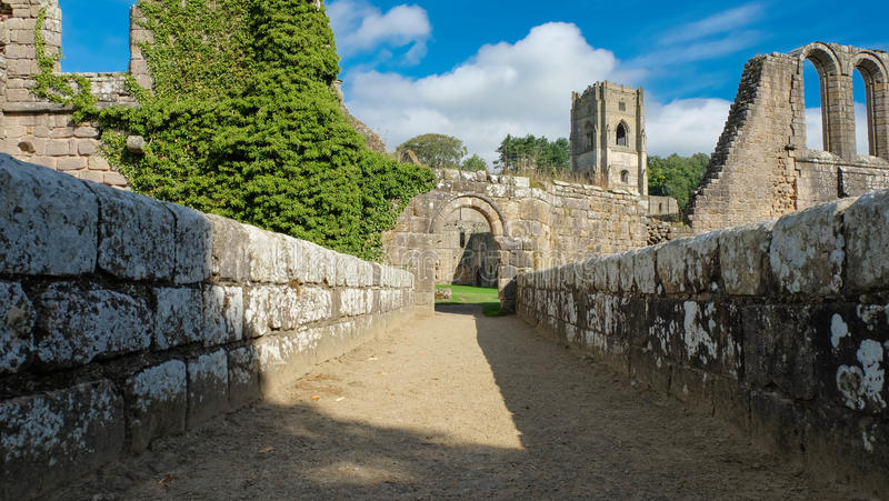 The Ruins of Fountains Abbey. Ripon stock image