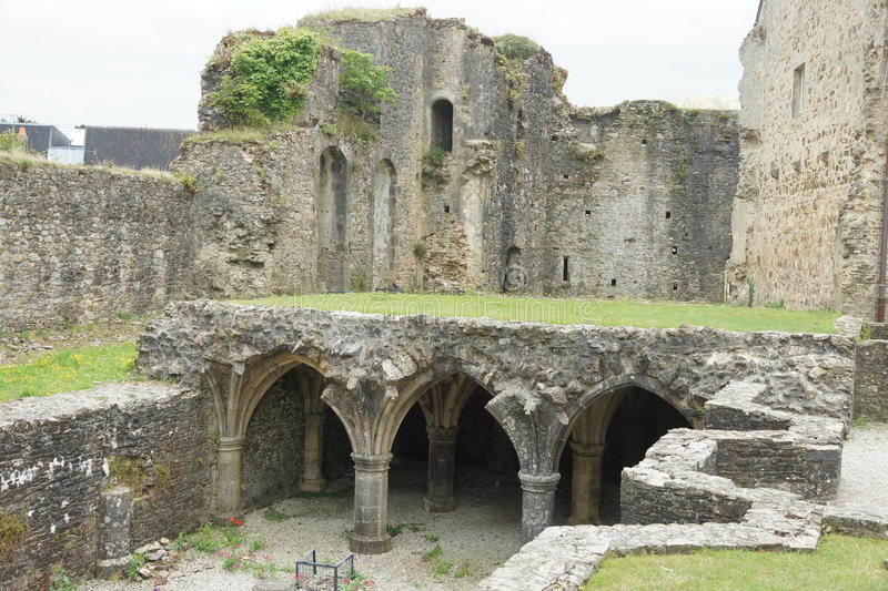 Ruins in France. This beautifull castle like building is located in france. As you cen see its quite complex stock images