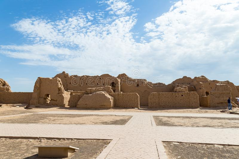 Ruins of Gaochang, Turpan, China. Dating more than 2000 years, Gaochang and Jiaohe are the oldest and largest ruins in Xinjiang. Buddhist temple stock images