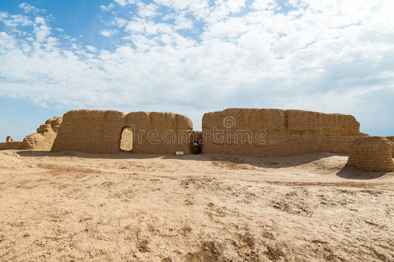 Ruins of Gaochang, Turpan, China. Dating more than 2000 years, they are the oldest and largest ruins in Xinjiang. Ruins of Gaochang, Turpan, China. Dating more stock photos