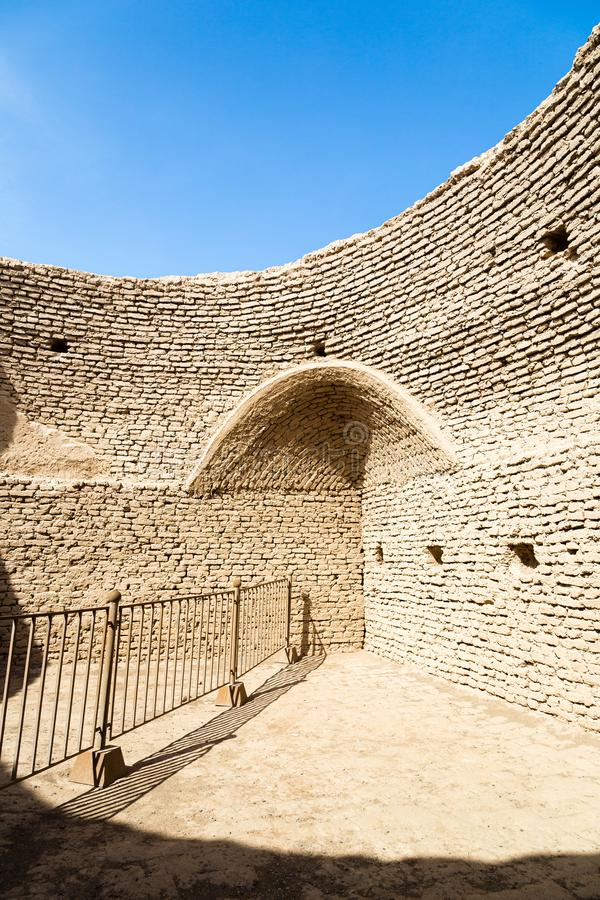 Ruins of Gaochang, Turpan, China. Dating more than 2000 years, they are the oldest ruins in Xinjiang. Ruins of Gaochang, Turpan, China. Dating more than 2000 royalty free stock photography