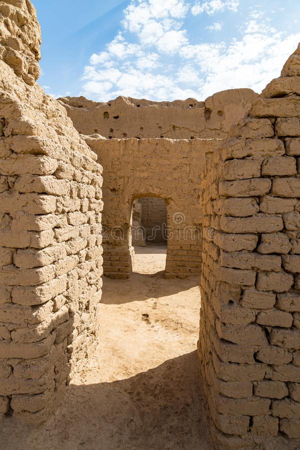 Ruins of Gaochang, Turpan, China. Dating more than 2000 years, they are the oldest ruins in Xinjiang. Ruins of Gaochang, Turpan, China. Dating more than 2000 stock photo