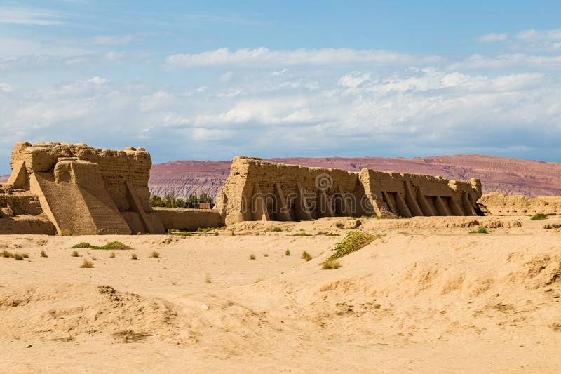 Ruins of Gaochang, Turpan, China. Dating more than 2000 years, they are the oldest ruins in Xinjiang. Ruins of Gaochang, Turpan, China. Dating more than 2000 royalty free stock images