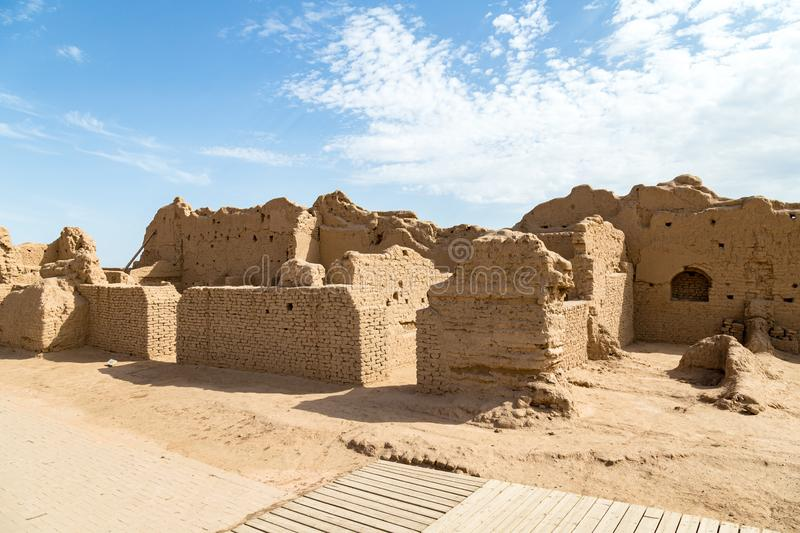 Ruins of Gaochang, Turpan, China. Dating more than 2000 years, they are the oldest ruins in Xinjiang. Ruins of Gaochang, Turpan, China. Dating more than 2000 stock images