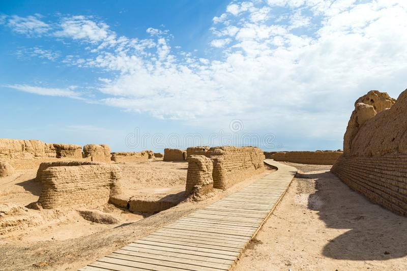Ruins of Gaochang, Turpan, China. Dating more than 2000 years, they are the oldest ruins in Xinjiang. Ruins of Gaochang, Turpan, China. Dating more than 2000 royalty free stock image